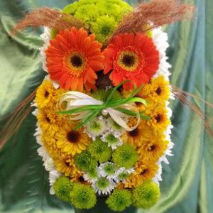 Бухалче от цветя