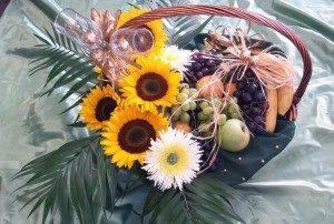 Кошница с цветя K884