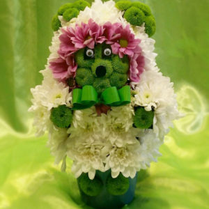 Мече от цветя 004