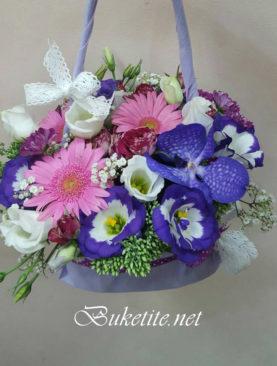 Дамска чантичка от цветя A026