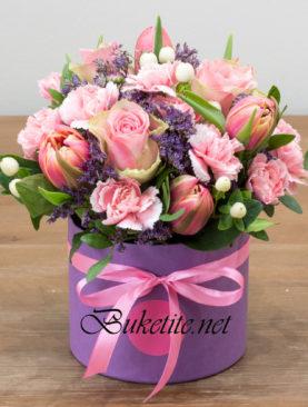 Кутия с пролетни цветя PB011