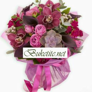 1 46 лева лукет с орхидеи и рози